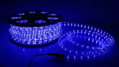 Direct-Lighting 50ft Super Bright Heavy Duty Blue Rope Lights with 600 LEDs - Expandable to 200 Ft.