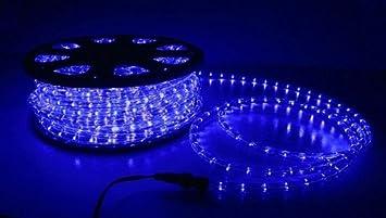 Amazon.com: Christmas Lighting LED Rope Light 50ft Blue w ...
