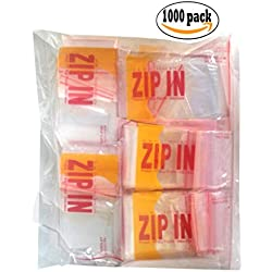 2-1/2 x 2 Inch Resealable Zipper Poly Bags for Tiny Collectables 1000 Bags