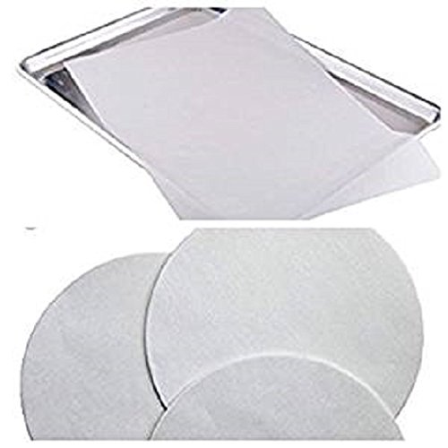 Made in USA - 200 ct. Combo pack 100 Half Sheet (30cm x 41cm) & 100 Round 23cm Parchment Paper Pan Liner Baking Sheets B078YXRQ9M