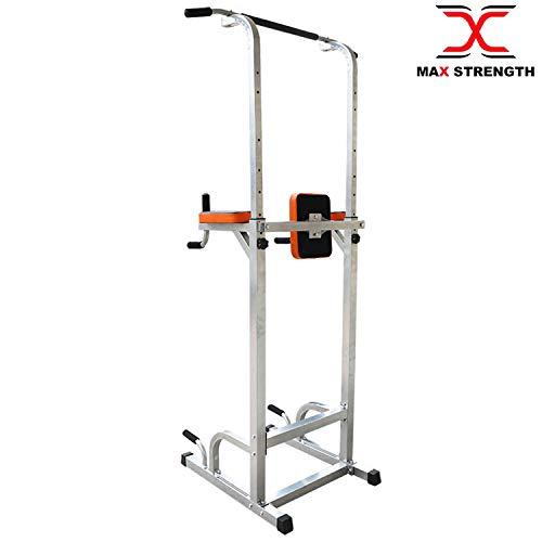 Multiestación de gimnasia de Maxstrength, con levantamiento vertical de rodilla, para hacer dips, lagartijas, ejercicios de dominada y otros ejercicios para ...