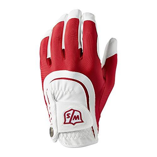 Wilson Staff Fit All Golf Glove, Red/White