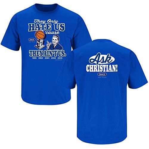 - Duke Basketball Fans. They Hate Us Cause They Ain't Us Blue T-Shirt (Sm-5X) (Short Sleeve, Large)