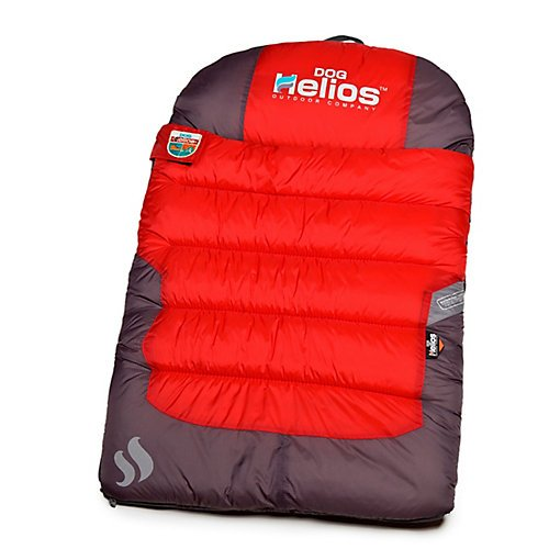 DOGHELIOS 'Trail-Barker' Multi-Surface Water-Resistant Travel Camper Sleeper Pet Dog Bed Mat w/ BlackShark Technology, One Size, Red, Dark Grey
