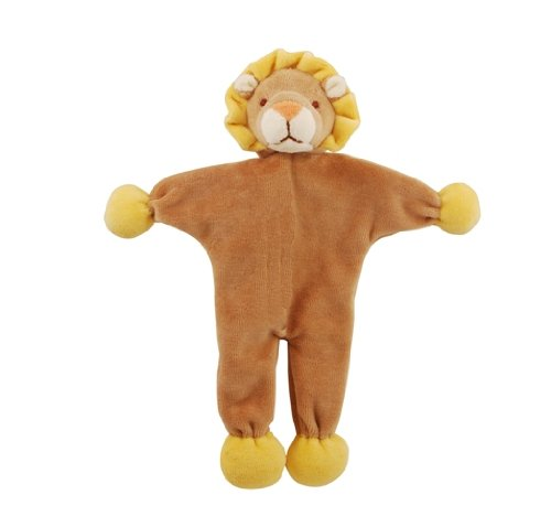 Simply Fido Leo 9-Inch Brown Lion Stuffless Crinkle Paper Dog Toy, My Pet Supplies