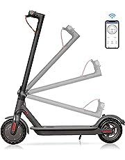 Skran 350W Elektrisk Scooter 10.4AH, vuxen lätt hopfällbar scooter, 30km/h,APP-kontroll, svart elektrisk scooter,35 km långdistansbatteri,