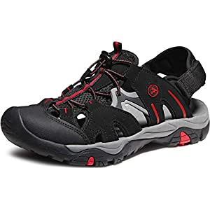 ATIKA Men's Sports Sandals Trail Outdoor Water Shoes 3Layer Toecap