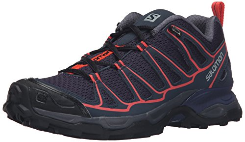 Price comparison product image Salomon Women's X Ultra Prime W Hiking Shoe, Nightshade Grey/Deep Blue/Coral Punch, 9.5 D US
