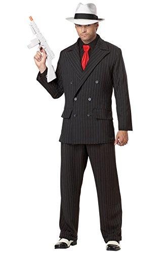 California Costumes Men's Mob Boss Adult, Black, X-Large (Mob Boss Tie)