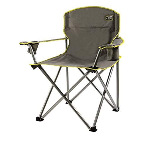 Quik Chair Heavy Duty Folding Camp Chair   Grey