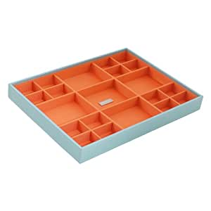 WOLF 300205 Large Standard Stackable Jewelry Tray, Aqua