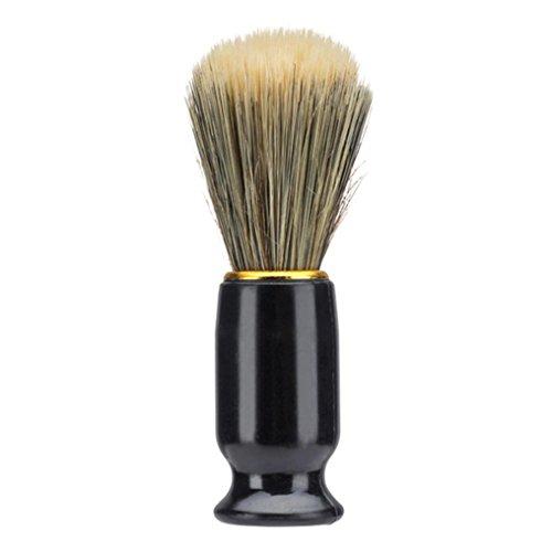 YJYdada Men Shaving Bear Brush Best Nylon Hair Shave Wood Handle Razor Barber Tool (Black)