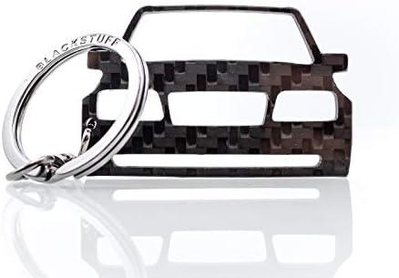 Blackstuff Carbon Karbonfaser Schlüsselanhänger Kompatibel Mit W124 Evo Cossworth Bs 608 Auto