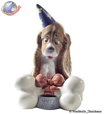 Amazon Com Nao Porcelain By Lladro Happy Birthday Puppy Dog