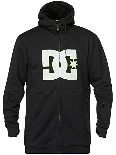 Dc Sweatshirt Lined (DC Men's Marquee Fleece, Caviar, Large)