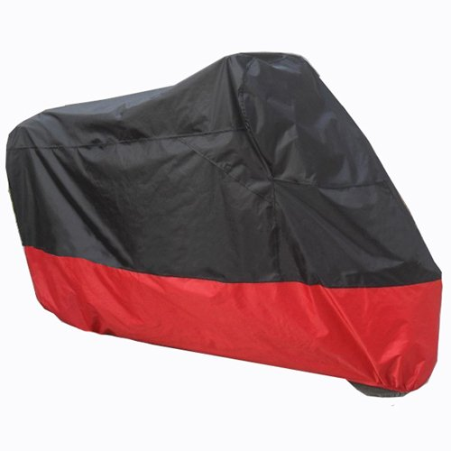 Black Red Motorcycle Cover For Yamaha Stryker Raider V-Star 1300 UV Dust Prevention XL