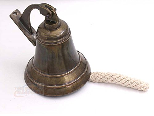 Brass Ship Bell Nautical Old Antique, Heavy Duty Old Antique Brass Bell, Brass Maritime Duty Watch Ship?s Bell In Old Antique Finish By The Metal Magician
