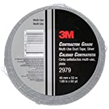 3M Contractor Grade Multi-Use Duct Tape 2979 Silver, 1.88 in x 60 yd 7.0 mil, Individually Wrapped, Conveniently Packaged
