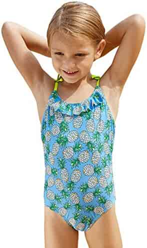 57a53d8290 Bestale Kid Girl One Piece Swimsuits Tropical Beach Baby Girl Quick Dry  Swimwear Polyester Suspender Bathing