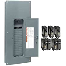 Square D by Schneider Electric HOM3060M200PQCVP Homeline 200 Amp 30-Space 60-Circuit Indoor Main Breaker Qwik-Grip Plug-on Neutral Load Center with Cover-Value Pack