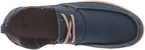 Sanuk de hombre Admiral Boat Shoe azul marino/marrón