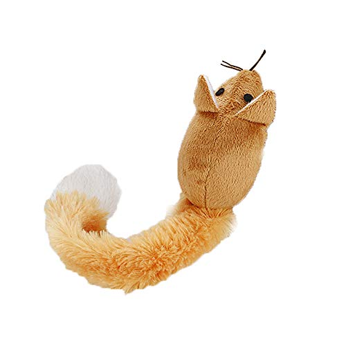 LtrottedJ Animal Toy Pet Plush Chew Toy with Catnip Cat Clean Teeth Training Tool (Coffer) -