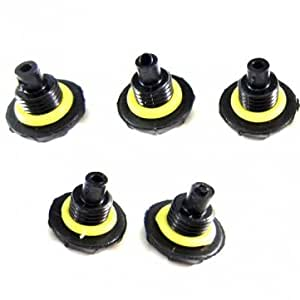 Replacement Headphone Jack Screw Seal Cap For iPhone Smartphone Device --- Color:Black -- Big Paw Trading