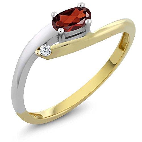 net 18K Two Tone Gold Diamond Ring (Size 5,6,7,8,9) (18k Two Tone Diamond Ring)