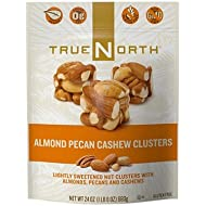 True North 100% Natural Clusters, Almond, Pecan, Cashews, 24 Ounce
