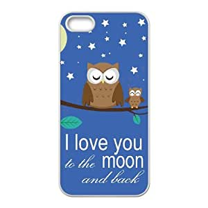 I love you to the moon and back Customized Case for Iphone 5,5S, New Printed I love you to the moon and back Case