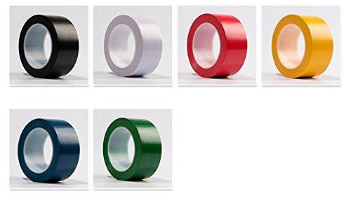 WINGONEER 36 Yards General Purpose Vinyl Tape Color Coding Pack Floor Marking Tape Yellow