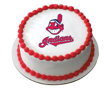CLEVELAND INDIANS MLB MAJOR LEAGUE BASEBALL TEAMS Edible Image FROSTING SHEET Cake Topper