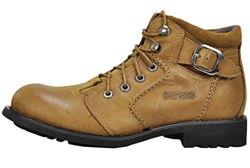 Serene Mens Buckle Lace Up Oxfords Sneaker Shoes(8 D(M)US, Tan)