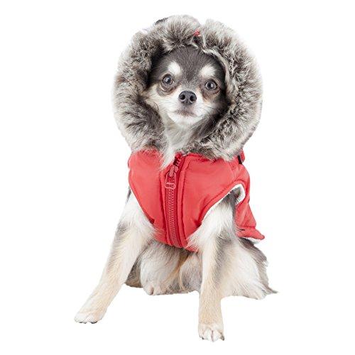 Puppia Clark Winter Fleece Vest, Medium, Red by Puppia (Image #3)