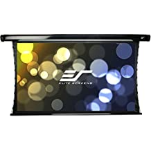 Elite Screens CineTension2, 92-inch 16:9, Tab-Tensioned Electric Drop Down Projection Projector Screen, TE92HW2