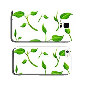 Detached twigs with leaves. Plant parts isolated on white cell phone cover case Samsung S5