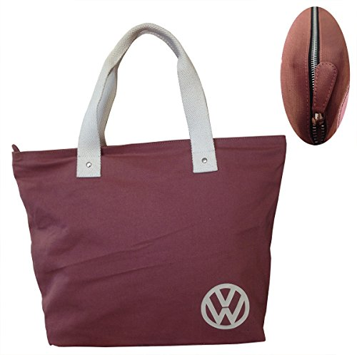 Red VW Canvas Ladies Tote Shopping Official Ladies Canvas VW Bag Official wUv7qnxTT