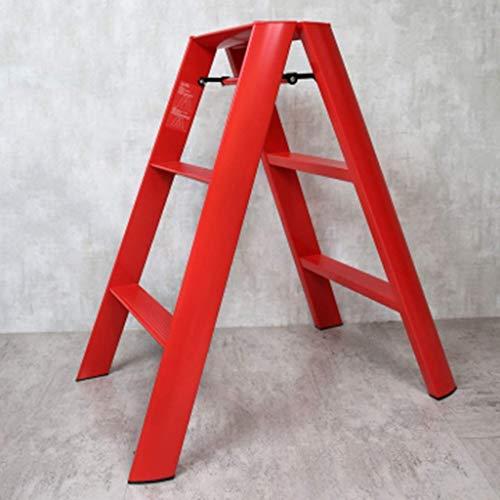 Moveable Platform - SZPZC Steps Ladders Foldable Aluminum Alloy Ladder Stool Ascending Ladder Multi-Purpose Moveable Work Platform Non-Slip Shrink Stepladder 150kg Capacity Ladders (Color : C)