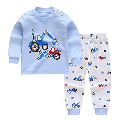 Meiju Baby Pyjama voor Jongen Meisjes, Herfst Cartoon Dieren Print Lange Mouwen Kleding Set Katoen Unisex Pasgeboren…