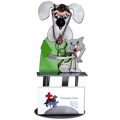 Amazon dog cat veterinarian business card holder home kitchen dog cat veterinarian business card holder colourmoves Choice Image