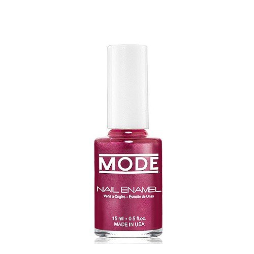 MODE Nail Enamel .50 fl oz. - Long Wear, High Gloss, Chip Resistant Cruelty-Free/Vegan Salon Nail Polish Formula - MADE IN THE BEAUTIFUL USA (Plum Berry with Rich Pearl - - Plum Rich