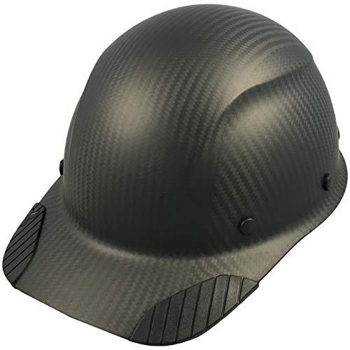 DAX Actual Carbon Fiber Cap Style Hard Hat - Matte Black by DAX (Image #1)