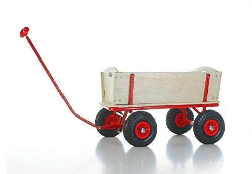 Bollerwagen BUBI mit pannenfreien Vollgummi-Reifen