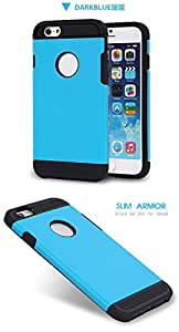 "Realway Super ARMOR SGP Style Bumper Frame Hard Back Case Cover for New iPhone 6 4.7"" (Dark Blue)"