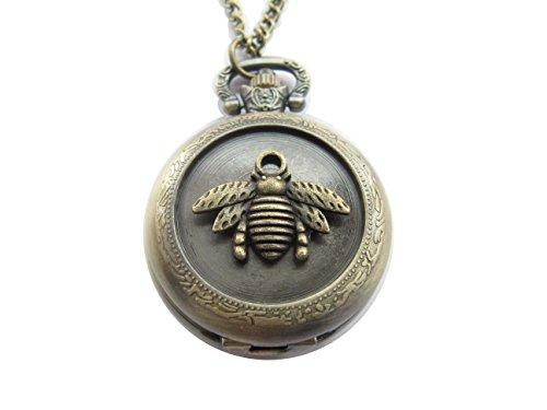 Wang Bee pocket watch Necklace, Honeybee Pendant antique ...