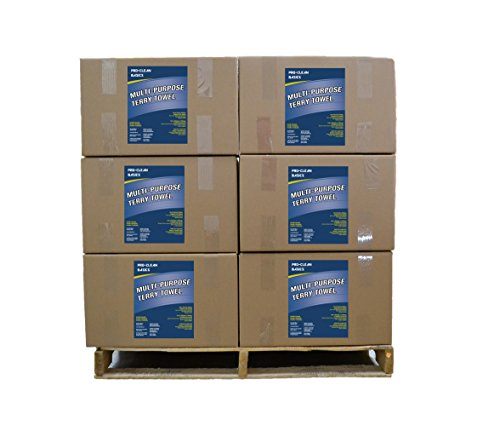 Pro-Clean Basics A95003 Multi-Purpose Terry Towel Pallet, 16'' x 19'', Heavy Weight: by Pro-Clean Basics