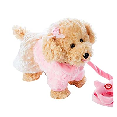 DRAGON SONIC Electronic Plush Toy Dog Remote Control Machinery Pet-Pink/Sister: Toys & Games