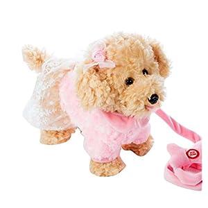Black Temptation Electronic Plush Toy Dog Remote Control Machinery Pet-Pink/Sister
