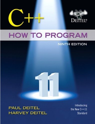 C++ How to Program (Early Objects Version) (9th Edition) by Pearson