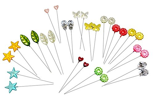 Price comparison product image Assorted Decorative Straight Hijab Pins (Pack of 12)